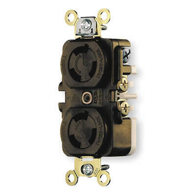 HUBBELL WIRING DEVICE-KEL Nylon Locking Receptacle,Industrial,15, HBL4700, Brown