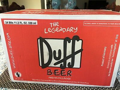 Duff Beer Unopened Collectable 24 Bottle German Made Rare Simpsons!!!