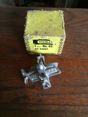 VINTAGE QUALITY BOXED STANLEY USA No 49 BIT GUAGE. EXC CONDITION
