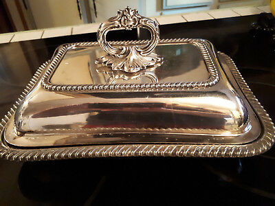 """Walker & Hall Serving Dish Numbered 52155  """"Collectable"""" Rare handle"""