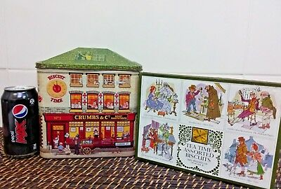 2 vintage biscuit tins made in England