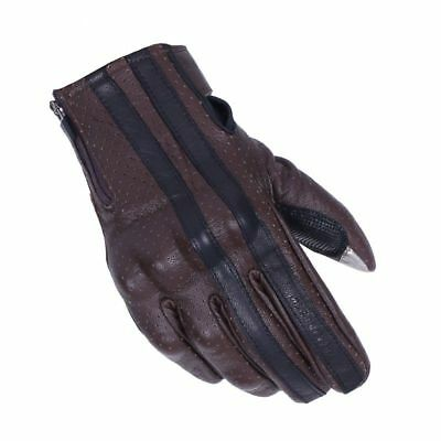 Men Brown Retro Motorcycle Gloves Touch Screen Leather Motorbike Motocross Glove