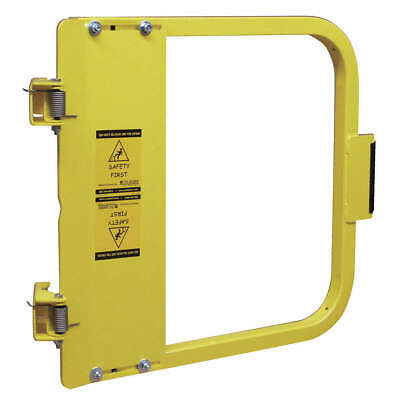 PS DOORS Carbon Steel Safety Gate,28-3/4 to 32-1/2 In,Steel, LSG-30-PCY, Yellow