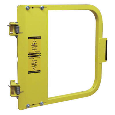 PS DOORS Carbon Steel Safety Gate,31-3/4 to 35-1/2 In,Steel, LSG-33-PCY, Yellow