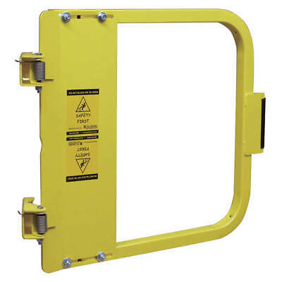 PS DOORS Carbon Steel Safety Gate,25-3/4 to 29-1/2 In,Steel, LSG-27-PCY, Yellow