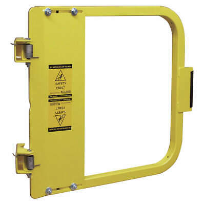 PS DOORS Carbon Steel Safety Gate,34-3/4 to 38-1/2 In,Steel, LSG-36-PCY, Yellow
