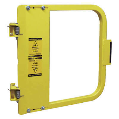 PS DOORS Carbon Steel Safety Gate,19-3/4 to 23-1/2 In,Steel, LSG-21-PCY, Yellow