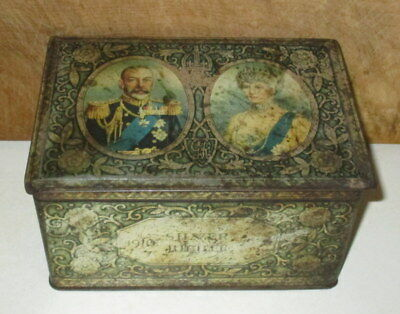 VINTAGE SILVER JUBILEE KING GEORGE 1910 to 1935 TIN BOX