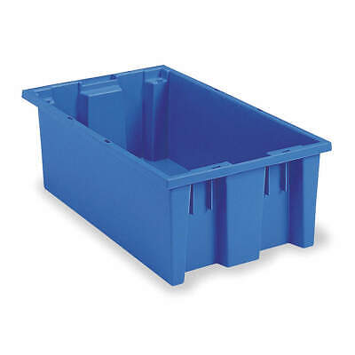 AKRO-MILS Nest and Stack Container,19-1/2 in,Blue, 35200BLUE, Blue