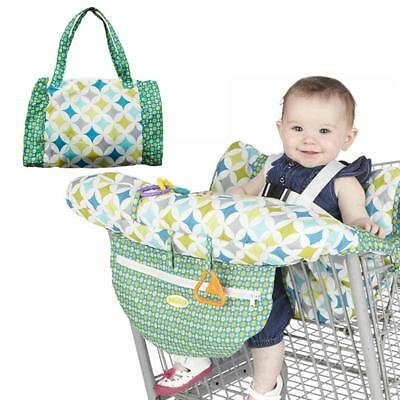 US Portable Baby Supermarket Trolley Dining Chair Foldable Shopping Cart Cushion