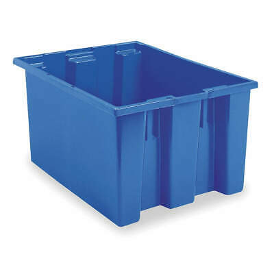 AKRO-MILS Nest and Stack Container,23-1/2 in,Blue, 35230BLUE, Blue