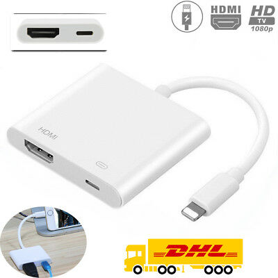 Lightning To HDMI Digital AV TV Cable Adapter For iPad i Phone 6 6s 7 Plus