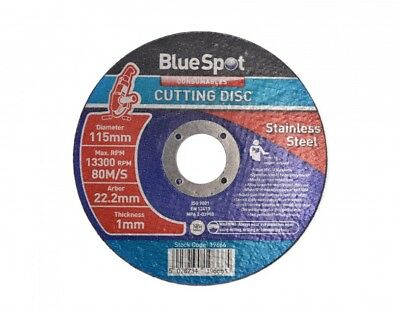 "115mm 4.5"" ULTRA THIN METAL CUTTING DISC 4 1/2"" STEEL & STAINLESS Bluespot 1mm"