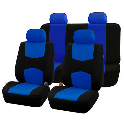 Blue Universal Car Auto Seat Covers Universal 9 Set Full Car Styling Seat Cover