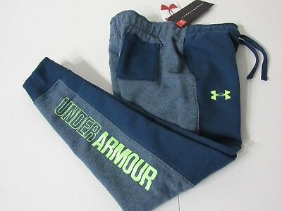 Under Armour ColdGear Youth Girls Green Graphic Fleece Lined Jogger Pants YSM