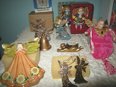 11 Collectible ANGEL Ornaments, Holiday Christmas gift tree friendship variety