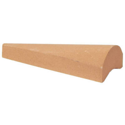 NORTON Gouge Sharpening Stone,A/O,Fine, 61463687305, Orange/Brown
