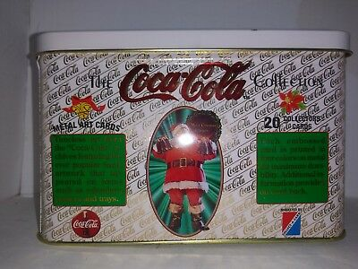 Vintage 1994 COCA COLA SANTA METAL ART COLLECTORS CARDS
