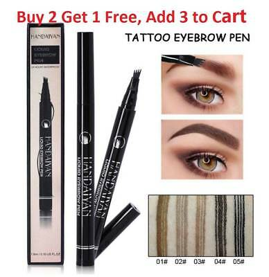 Waterproof Tattoo Pen Semi Permanent Makeup Eyebrow Pencil Microblading Tools FU