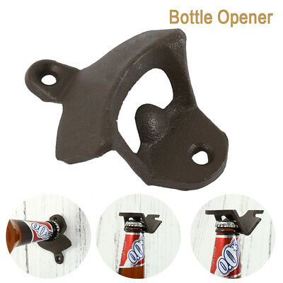 BOTTLE OPENER Cast Iron Wall Mounted Bar Heavy Vintage Rustic Antique Openers CA