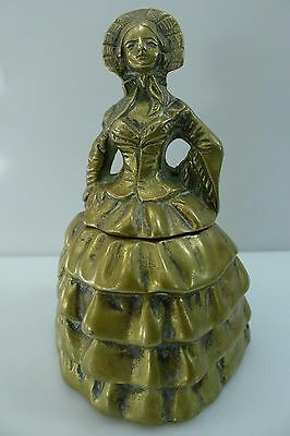 Very Rare Old Inkwell Hinged Lid Beautiful English Brass Workmanship