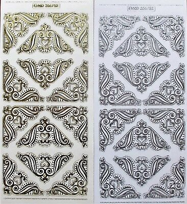Embossed on Clear Wedding Corners PEEL OFF STICKERS Wedding Engagement Corner