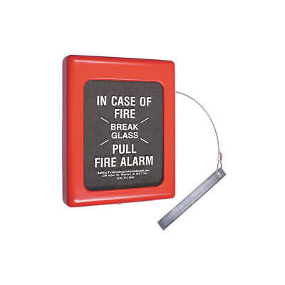 SAFET Polycarbonate/Glass Fire Alarm Break Glass Cover,6.5 x 9 In, STI-4100, Red