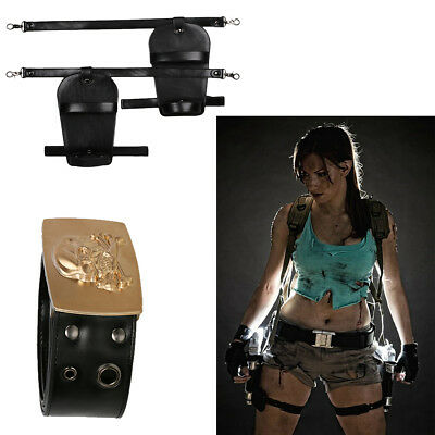 Tomb Raider Lara Croft Cosplay Belt Gun Holster Costume Props Halloween Xcoser