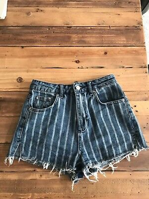 Topshop Denim Mom Shorts Size 8 - Fab - Sit On Waist
