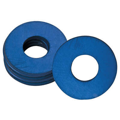 WESTWARD Grease Fitting Washer,1/4 In.,Blue,PK25, 44C505