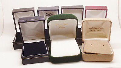 Lot Of 7 Earring Boxes