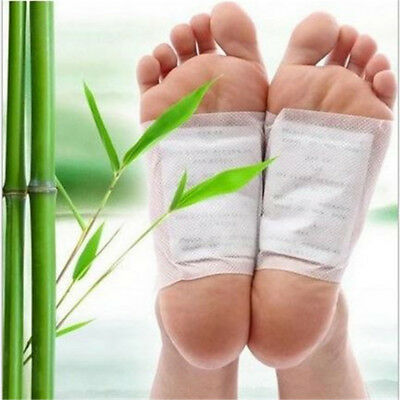 10PCS Bamboo Vinegar Foot Patch Stress Relive Detox Promote Sleep Foot Pad Patch