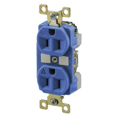 BRYANT Nylon Receptacle,Brown,15A,Isolated Ground, BRY5262IGB