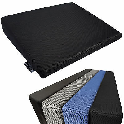 Memory Foam Wedge Lumbar Cushion Car Seat Booster Office Chair Back Pain Support