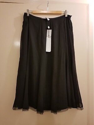 ANTHEA CRAWFORD *Women's Event Skirt* Black - SIZE 14 - RRP $249
