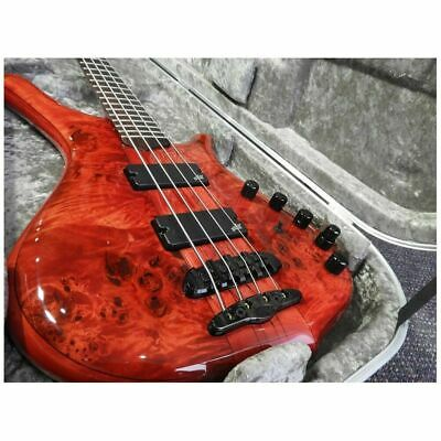 Mayones Comodous 4 Classic 4-String Electric Bass with Hard Case - Liquid Red