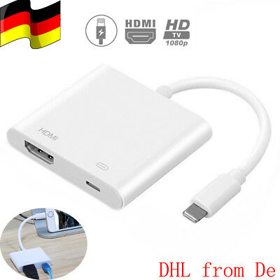 Lightning Digital AV Adapter to HDMI VGA Port For Apple iPhone, iPad and iPod