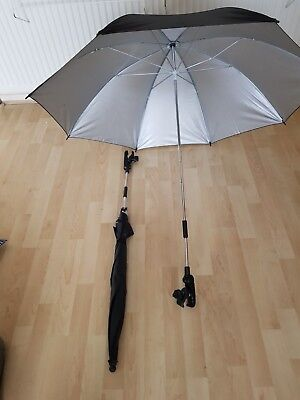 TWO Simplantex Wheelchair Umbrella Wheely Brella Transit