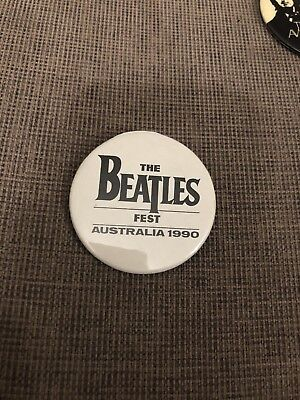The Beatles Fest Australia 1990 Badge. Scarce!