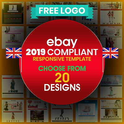 Professional eBay Auction Template Mobile Responsive 2018 Policy Apparel Special