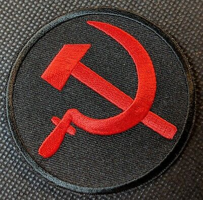 Russian Hammer and Sickle Embroidered Motorcycle Patch Biker Patch