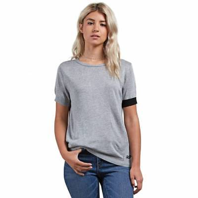 T-shirt Volcom Simply Stone femme heather grey