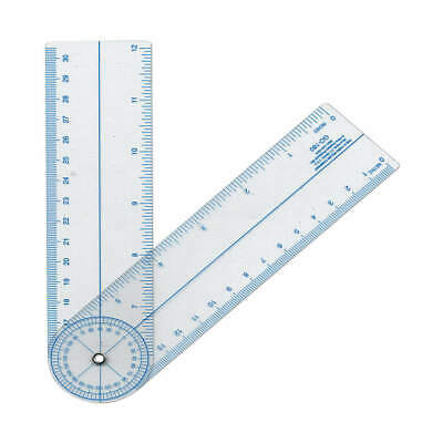 WESTCOTT Protractor,Inch and Metric Scales,PVC, GO-180