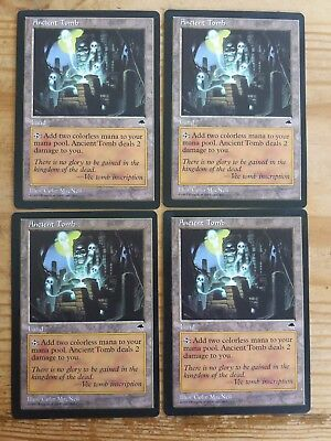 MTG x4 Playset Ancient tomb / Ancienne tombe - Not tournament legal