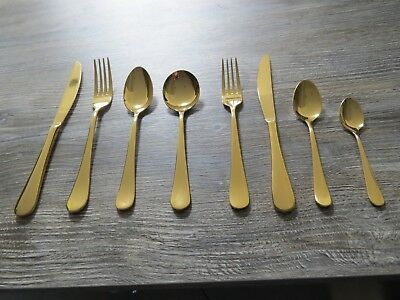 ETERNUM Signature collection Arcade gold cutlery,desert,fork,spoons-choose 12pc