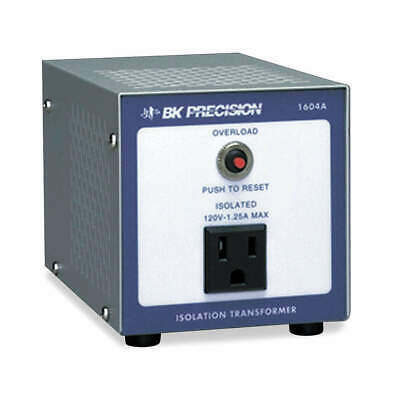 B&K PRECISION Isolation Transformer,120VAC, 1604A, Gray
