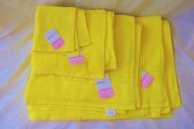 Luxury Egyptian cotton yellow towels / FACE / HAND / BATH TOWELS / BATH SHEET