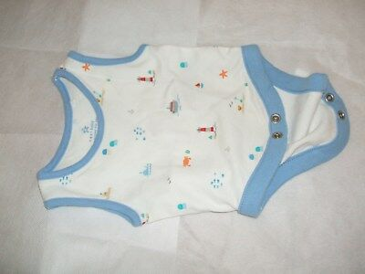 Baby boy sea side moto vest 1st size