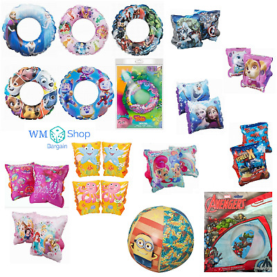 Kids Inflatable Swim Ring Swimming Pool Floats Armbands Arm Bands Beach Toy