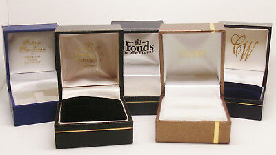 Lot Of 5 Various Brand Ring Boxes